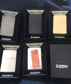 5 New Zippo Lighters, received from MARBORO for Sale in Houston, TX