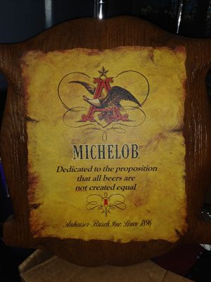 Michelob beer sign for Sale in Bloomfield, NJ