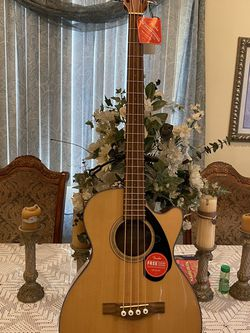 natural fender bajoloche electric acoustic bass for Sale in Commerce,  CA