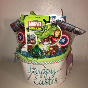 Avengers Themed Easter Basket Hulk Iron Man Captain America for Sale in Brookfield, IL