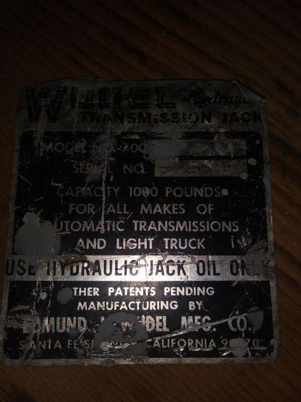 Wudel Under-Hoist Transmission Jack