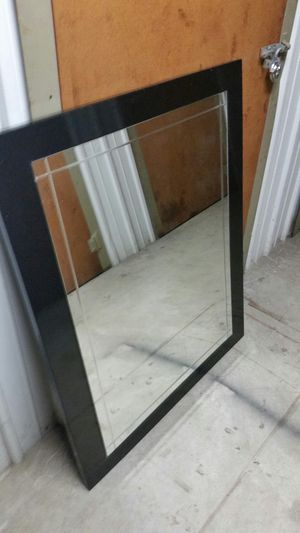 BIG BLACK HEAVY MIRROR FOR WALL for Sale in Fairfax, VA