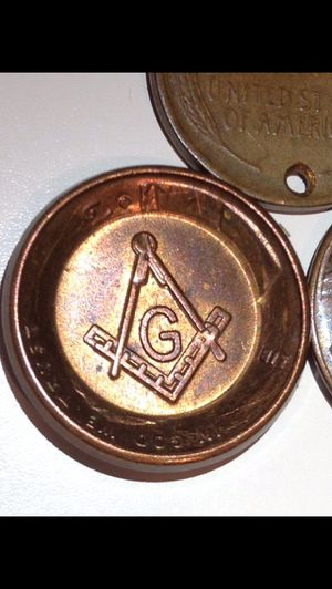 Scarce Freeman Secretive Society Stamped Penny- Official Symbol of Masonry! for Sale in Fairfax, VA