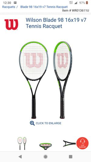 Wilson Blade 16x19 v7 tennis racket with 1/4 grip for Sale in Houston, TX