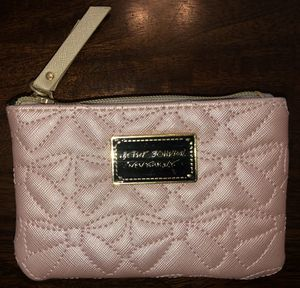 """New Pink Betsey Johnson New York NY Coin Purse Makeup Pouch 6"""" Long & 4"""" Tall for Sale in Visalia, CA"""