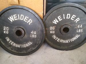 Weight plate set must go for Sale in Pittsburgh, PA
