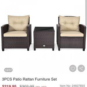 New 3 Pcs Wicker Furniture Set for Sale in Fresno, CA