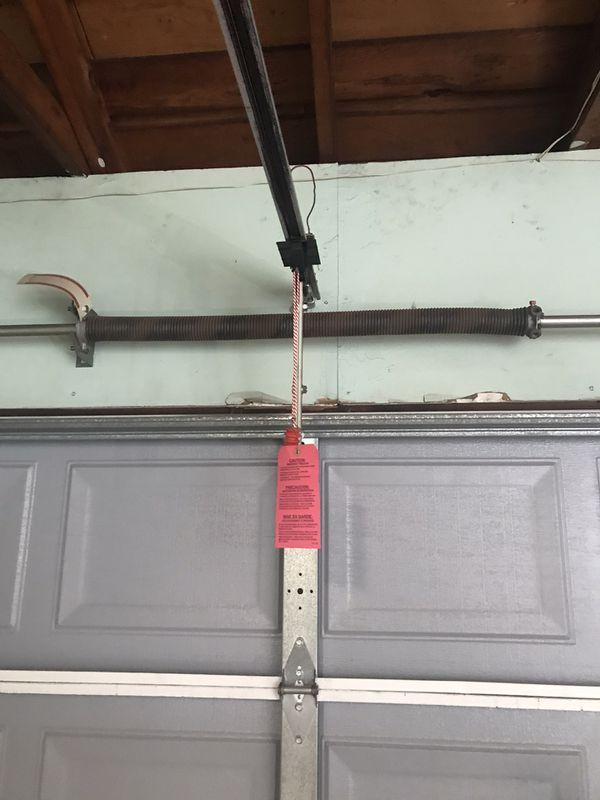 Garage door with opener