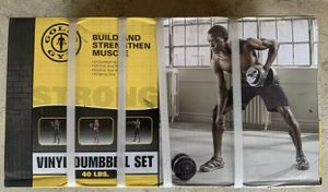 Gold's Gym Vinyl Weights 40 lbs Set for Sale in Silver Spring, MD