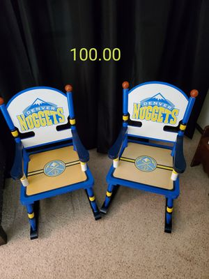 Denver Nuggets kids rocking chairs for Sale in Arvada, CO