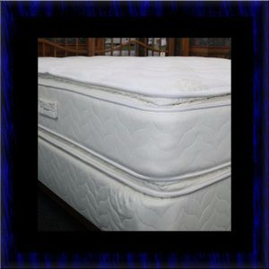 Twin mattress double pillowtop with box spring for Sale in Ashburn, VA