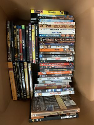 Box full of DVD and Blu Rays for Sale in Arlington, TX