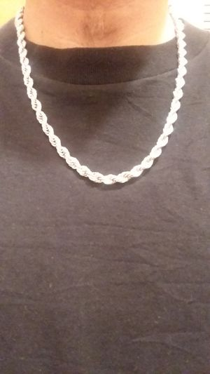 Stainless steel men's rope chain and bracelet for Sale in Chicago, IL
