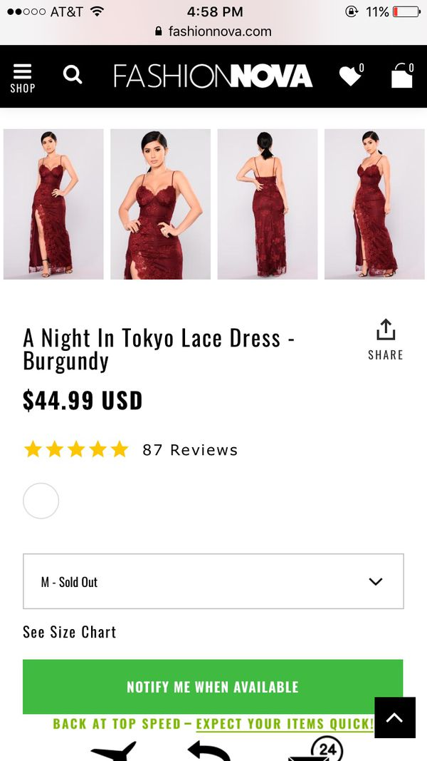 e4c8e5d38 Fashion nova lace dress for Sale in Santa Cruz, CA - OfferUp