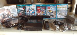 Nintendo wii u system with 10 games for Sale in Fresno, CA