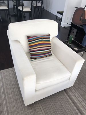 Beautiful, custom white boucle chair for Sale in West Hollywood, CA