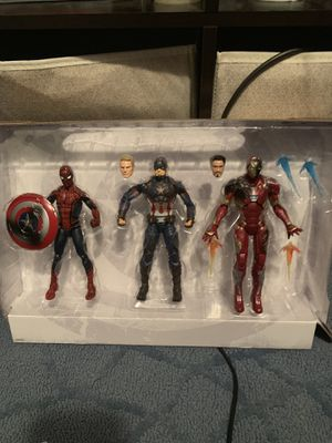 Captain America civil war 3 pack action figures for Sale in Pittsburgh, PA