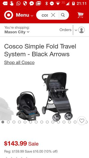 Cosco combo stroller car seat for Sale in Moline, IL
