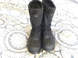 Sorel NY1582-010 insulated winter snow boots men's/boys size 6,women size 8-8 black for Sale in Fountain Hills, AZ