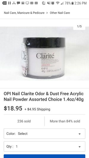 OPI Nail Clarite Odor & Dust Free Acrylic for Sale in Huntington Park, CA