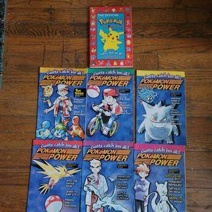 pokemon power magazine volume 1-6 and original pokemon handbook for Sale in Cleveland, OH