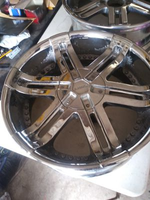 """Shift 20"""" dual 6 lug rims for Sale in Round Rock, TX"""