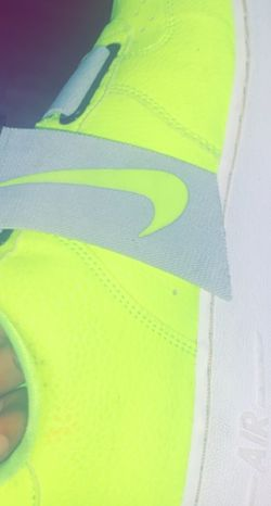 lime green grey and white with black nike check for Sale in Dallas,  TX