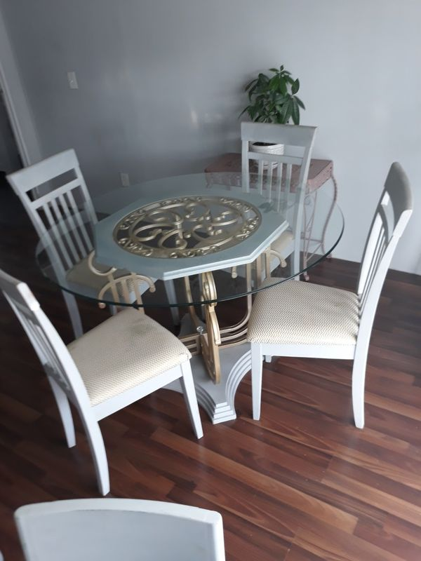 Coffee and dining tables chairs included