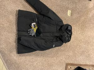 River Edge Black coat with matching gloves new for Sale in Lake Hallie, WI