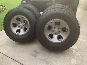 "Set of 5 17"" Wheels & Tires Nitto Terra Grappler AEV Savegre Jeep Wrangler for Sale in Coral Springs, FL"