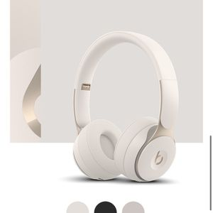 Beats by Dr. Dre - Solo Pro Wireless Noise Cancelling On-Ear Headphones - Ivory for Sale in Los Angeles, CA