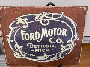 Ford motor tin sign for Sale in Lakeland, FL