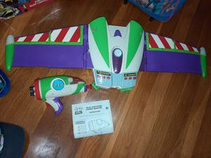 Buzz lightyear motorized wings and nerf blaster for Sale in Austin, TX