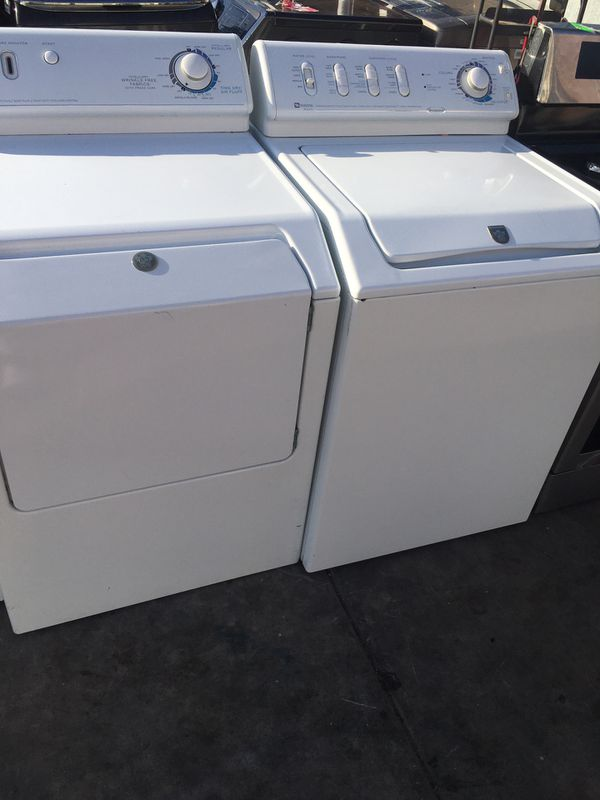 MAYTAG WASHER AND GAS DRYER TOP LOAD