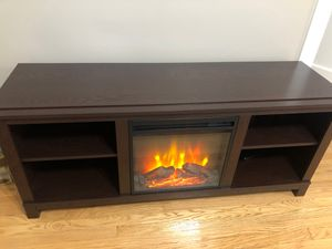 NEW tv stand with fireplace for Sale in Riverside, IL