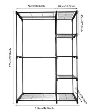 Metal Rack Closet Organizer for Sale in Bowie, MD