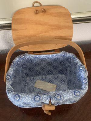 kids ll Longaberger purse basket with plastic insert for Sale in Oak Glen, CA