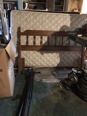Full size bed frame, foundation and mattress for Sale in Everett, MA