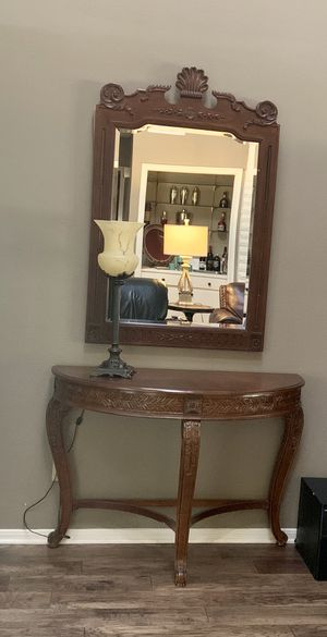Gorgeous Entry Table & Mirror for Sale in Houston, TX