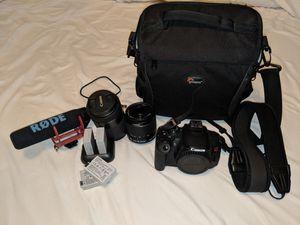 Canon T5i camera set for Sale in Denver, CO