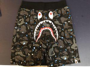 Authentic Bape space camo shark shorts size L & XL for Sale in Cambridge, MA