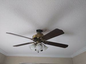 Gold and Wood Hampton Bay Fan for Sale in Fort Lauderdale, FL