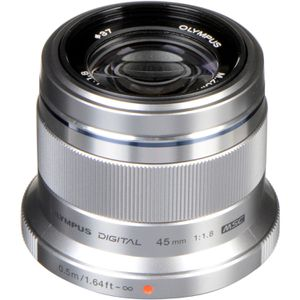 Olympus M.Zuiko Digital 45mm F1.8 Lens, for Micro Four Thirds Cameras (Silver) for Sale in North Canton, OH