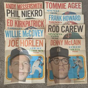 9 Different 1970 Topps Baseball Card Insert Posters for Sale in Brea, CA