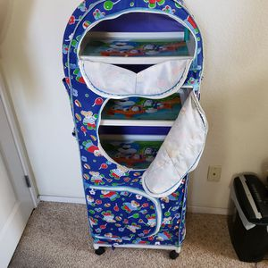 Portable Kids Shelf/Closet/Dresser on wheels and cloth cover for Sale in Sunnyvale, CA