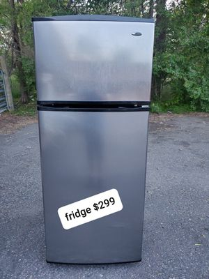 Fridge stainless steel good working conditions for Sale in Wheat Ridge, CO