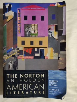 The Norton Anthology of American Literature. Shorter 8th Edition. Volume 2. 1865 to the Present for Sale in Clovis, CA