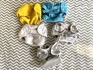 Newborn / Small cloth diaper lot. Prefolds and covers. for Sale in Seattle, WA