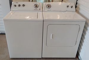 WHIRLPOOL HEAVY DUTY LIKE NEW WASHER AND DRYER ON SALE WITH WARRANTY AND DELIVERY AVAILABLE for Sale in Irving, TX