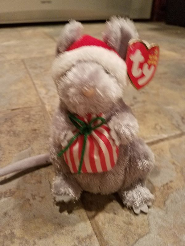 RETIRED TY BEANIE BABIES CHRISTMAS MOUSE 1993